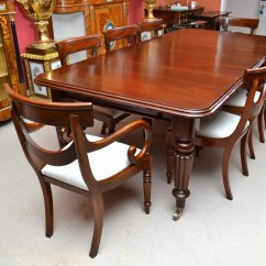 Victorian Table And Chairs Swivel Chair Footstool Antique 8 Ft Mahogany Dining