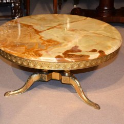 Dining Table And Chair Sets Clear Plastic Chairs Regent Antiques - Coffee Tables Vintage French Ormolu & Onyx