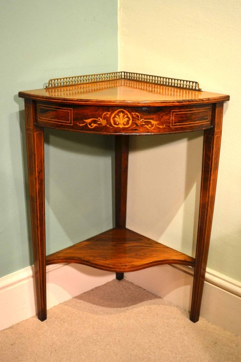 Regent Antiques Occasional And Side Tables Antique Edwardian Rosewood Corner Occasional Table
