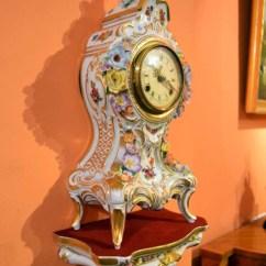 China Sofas Online Ebay Real Leather Sofa Beds Regent Antiques - Clocks Vintage Dresden Porcelain Clock ...