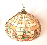 Vintage Tiffany Style Leaded Glass Lamp Shade c.1970