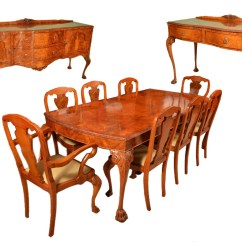 Two Chair Dining Table Desk Back Support Cushion Vintage Suite 8 Chairs 2 Sideboards