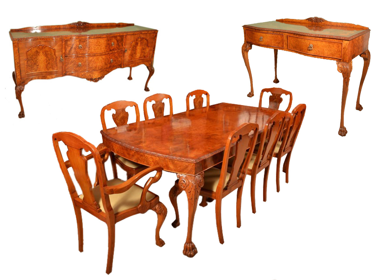8 chair dining table set wedding covers afterpay vintage suite chairs 2 sideboards