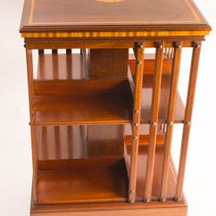 Revolving Chair In English Restaurant Chairs Cheap Regent Antiques - Bookcases Antique Edwardian Bookcase C.1900