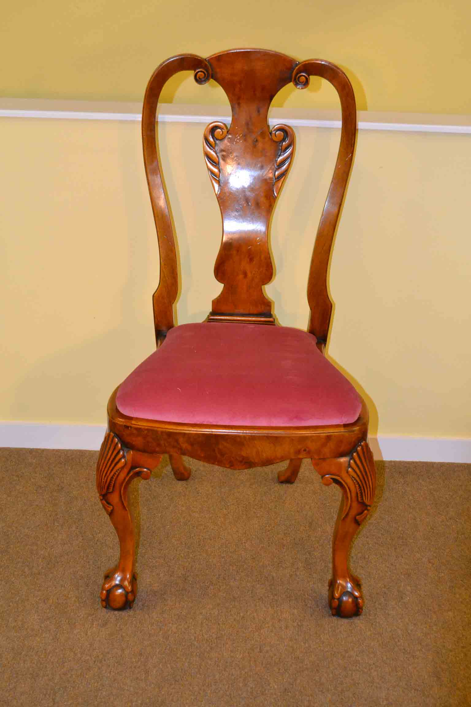 antique queen anne chair oversized accent chairs regent antiques dining tables and table