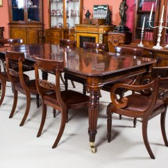 Vintage Dining Room Chairs Adirondack From Recycled Plastic Antique Regency Mahogany Table 8