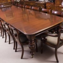 Antique Kitchen Table Refurbished Dining Chairs Set Victorian 12 Ft Flame Mahogany 14