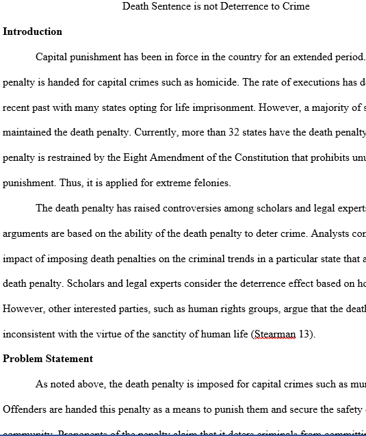 Custom crime and death penalty essay writing