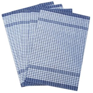 Rice Weave Tea Towel - Blue Colour - Pack of 10 - quick-cleaning-supplies