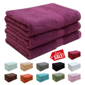 Luxury 100% Supersoft Cotton Heavy Quality Bath Towels 580 Gsm - quick-cleaning-supplies