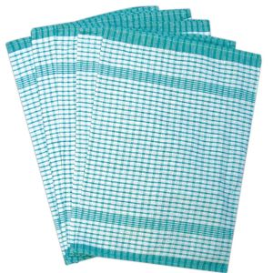 Rice Weave Tea Towel - Green Colour - Pack of 10 - quick-cleaning-supplies