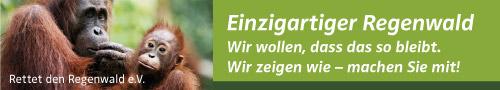 Banner Rettet den Regenwald e.V.