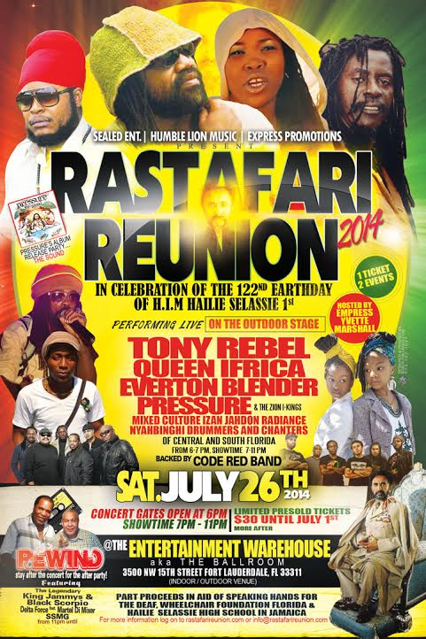Rastafari Reunion 2014 | Reggae Nostalgia Internet Radio Inc