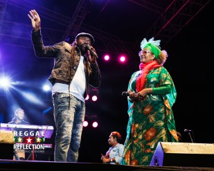 Tony Rebel and Marcia Griffiths