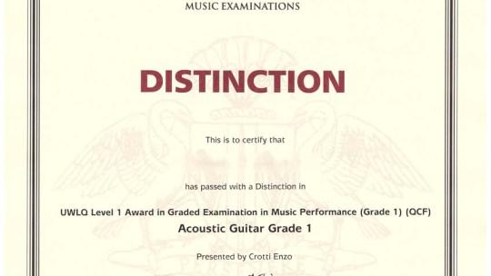 Quadro per l'Apprendimento Permanente (EQF) – Corsi di chitarra