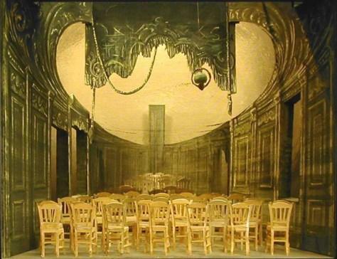 Les Chaises d' Eugène Ionesco, décor de Jacques Noël