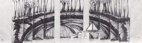 La Flûte enchantée de Mozart, décor de Luciano Damiani