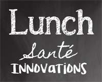 Affiche du Lunch Santé Innovations organisé par le Pôle des Technologies Médicales au CHU de Saint-Etienne