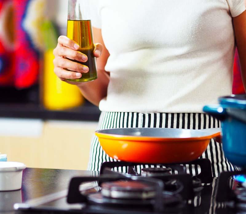 Huiles de cuisson en cuisine