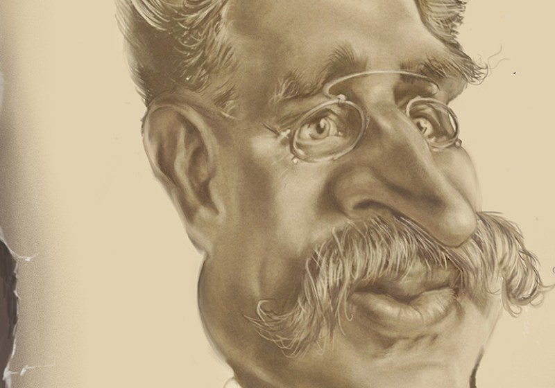caricature Charles E L Brown