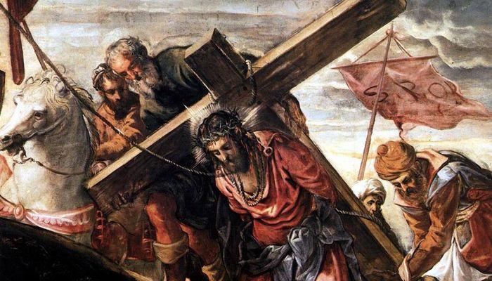 Gesù sale il calvario