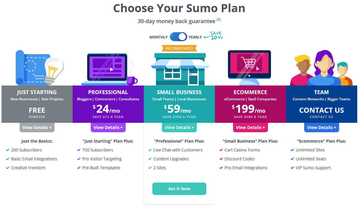 Sumome_Pricing_Sumome_Alternative OptinMonster Alternatives: 5 Powerful Email List Builders For 2018 WordPress