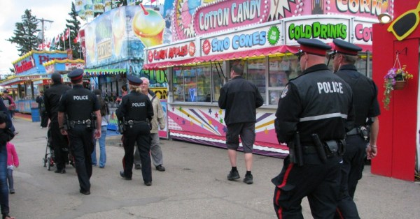Regina Police Service officers patrolling the Queen City Ex, 2012.