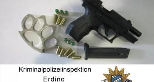 Drogenbande in Freising und Erding verhaftet - Waffen sichergestellt Quelle Foto Kripo Erding