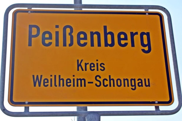 Ortschild Peißenberg