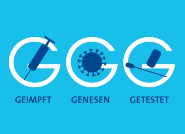 3G Schild Hotel- und Gaststättenverband DEHOGA Bayern - Zutritt nur für geimpfte, genesene oder negativ getestete Gäste