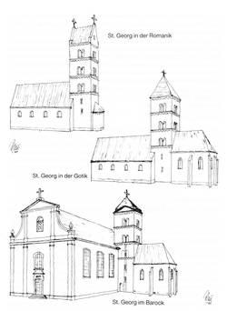 Die katholische Pfarrkirche St.Georg in Nieder-Olm