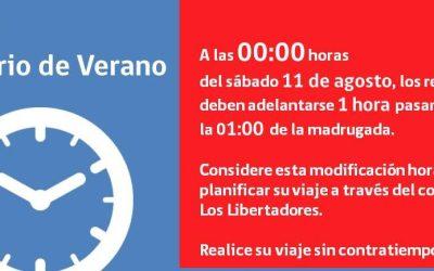 Argentina y Chile vuelven a igualar sus relojes
