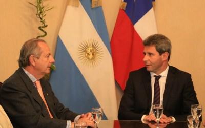 El Túnel de Agua Negra fue el eje central de la reunión de Uñac con el embajador de Chile en Argentina