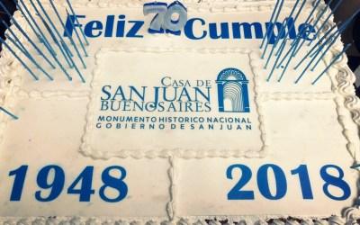 Se conmemoró el 70º aniversario de la Casa de San Juan en Buenos Aires