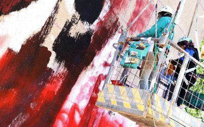 El mural más alto está en la Ciudad de San Juan