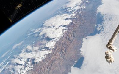 La impresionante imagen de la Cordillera de Los Andes tomada desde el espacio
