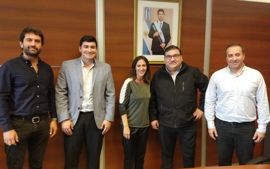 Con el foco en el turismo de Ullum, Domínguez se reunió con Grynszpan