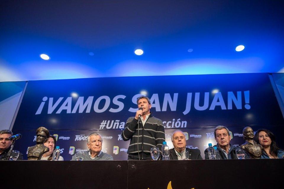 Uñac presentó los candidatos a diputados nacionales para defender el Túnel de Agua Negra