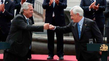 ¿De qué hablaron Alberto Fernández y Sebastián Piñera en Chile?