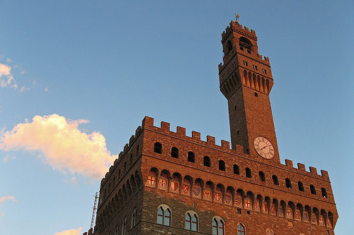 The palazzo vecchio is the town hall of florence, italy. Palazzo Vecchio, Firenze