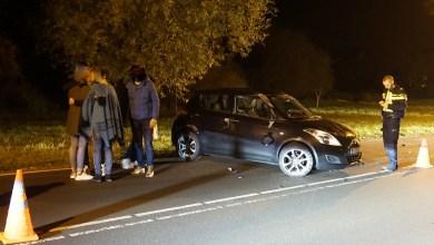 Photo of Auto over de kop in Julianadorp