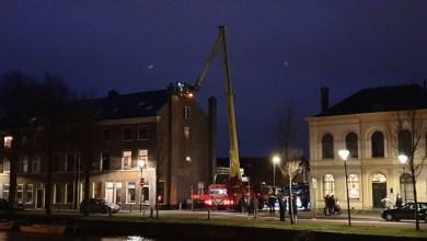 Photo of Schoorsteenbrand in woning Kerkgracht