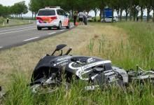 Photo of Motorrijder onderuit op de N249