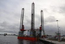 Photo of Boorplatform SeaFox 2 in haven Den Helder