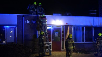 Photo of Brand op dak paviljoen Noorderhaven
