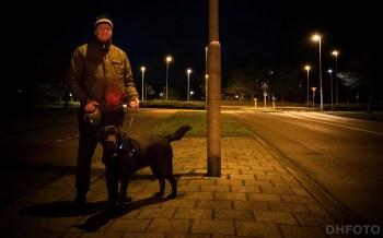 Joop Schipper en hond Dax (DHfoto).