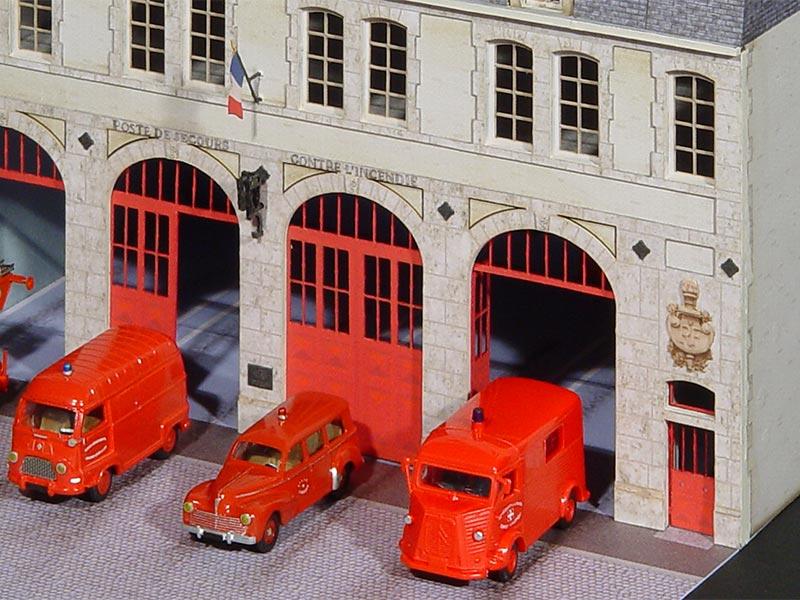 Caserne de Pompiers  Rgions  Compagnies  Maquettes en carton imprim prdcoup au laser