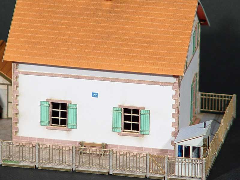 Maison de PN AL  Rgions  Compagnies  Maquettes en carton imprim prdcoup au laser