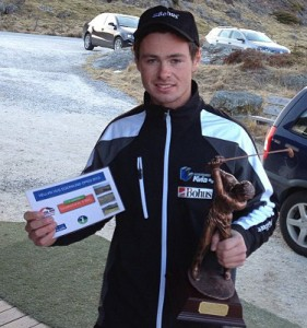 Andreas Tendenes som vinner av  Egersund Open 2013. Foto: Liv Tone Tendenes