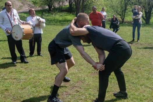 two men practicing self defense